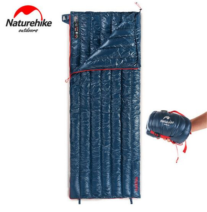 Naturehike Goose Down Sleeping Bag Outdoor Ultralight Adult Fleabag Warm Splicing Single Envelope Sleeping Camping Sleeping Gear чехол для чемодана coverway travel accessories tropicana tropicana s