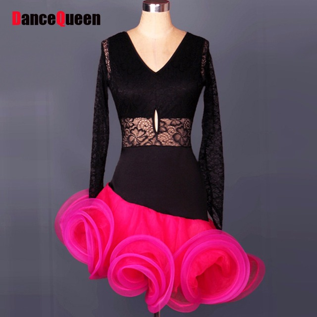 d38219cb7a21f Adult/Child Latin Dance Costumes For Women/Girls Cha Cha/Rumba/Samba ...