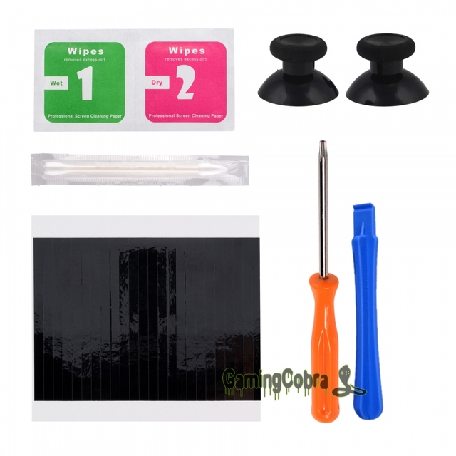 eXtremeRate Thumbsticks w/ Resistant Sticker Screwdriver Tools Set Replacement Parts