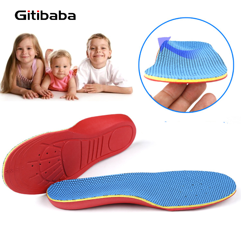 Kids EVA Memory form orthopedic insoles for children shoes flat foot arch support orthotic Pads Correction  feet care o leg orthotic arch support shoe pad insoles arch support damping massage correct flat foot protect arch feet care pads xd 041