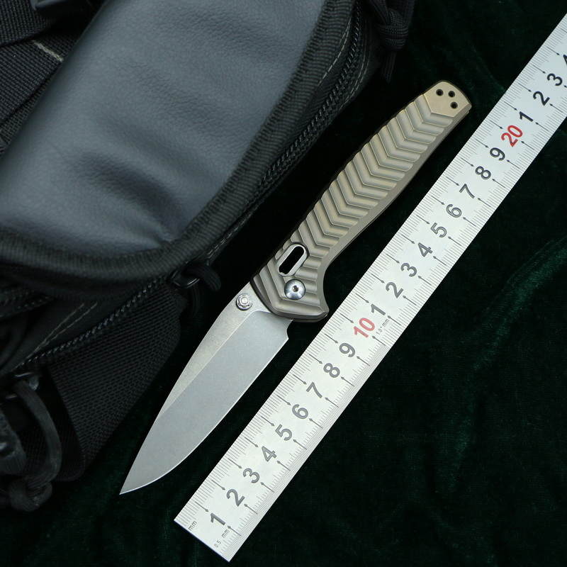 LOVOCOO 781 M390 Steel Titanium handle Foldable knife outdoor camping pocket Survival Hunting Kitchen Knives Utility EDC Tools-in Knives from Tools    1