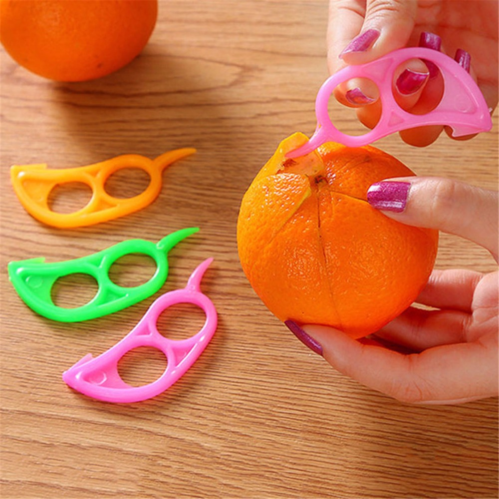 5pcs White Fruit Lemon Orange Opener Peeler Slicer Cutter Kitchen Tools BR