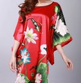 Fashion Red Chinese Women's Silk Rayon Robe Gown Nightwear Yukata One Size Free Shipping S0104-C