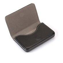 купить High Quality PU Leather stainless steel business card holder women men wallet credit bank hsap case 2019 minimalist new fashion дешево