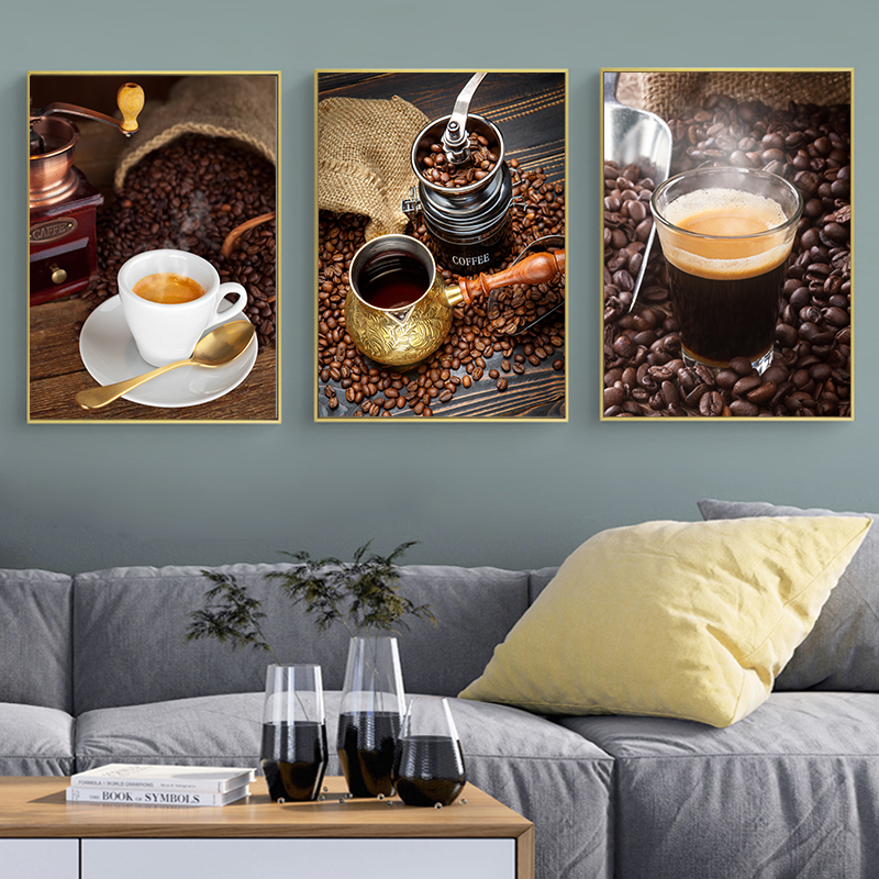 Us 2 6 30 Off Nordic Coffee Theme Photography Canvas Posters Print Modern Wall Art Pictures For Living Room Dinning Cafe Office Aisle In
