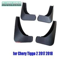 цена на Set Molded Car Mud Flaps For Chery Tiggo 2 2017 2018 Mudflaps Splash Guards Mud Flap Front Rear Mudguards Fender Accessories