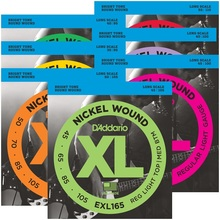D'Addario Nickel Wound Bass Guitar Strings, Long Scale EXL160 EXL165 EXL170 EXL190 EXL220 rotosound r9 strings nickel super light