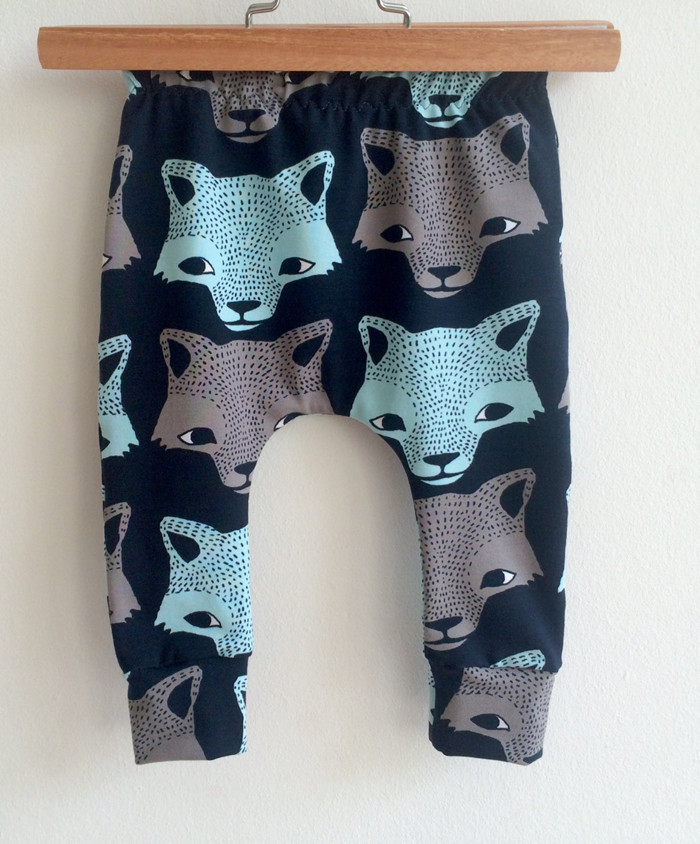 Fashion Baby Pants Baby Boys Trousers Cartoon Animal Wolf Prints Casual Cotton Harem Pants 4-24M Elastic Infant Clothes Clothing