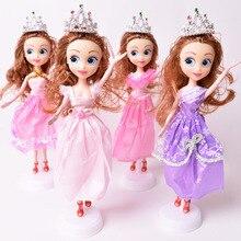 (Bez pudełka) 1pc nowe lalki 11 cali lalka księżniczka z koroną modne lalki prezenty dla dziewczynek zabawki dla dzieci (7 kolorów)