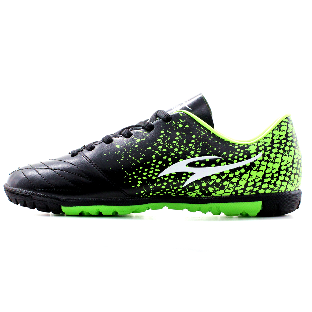 Maultby Men's Green / Black TF Turf Sole Outdoor Cleats Football Boots Shoes Soccer Cleats #STF3006B(China)