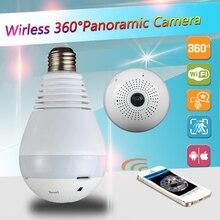 1080P 360 degree Wireless IP Camera Bulb Light FishEye Smart Home CCTV 3D VR Camera 2.0MP Home Security WiFi Camera Panoramic
