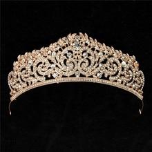 Romad Crown Headband Crystal Rhinestone Tiara Wedding Bridal Crowns Hair Accessories