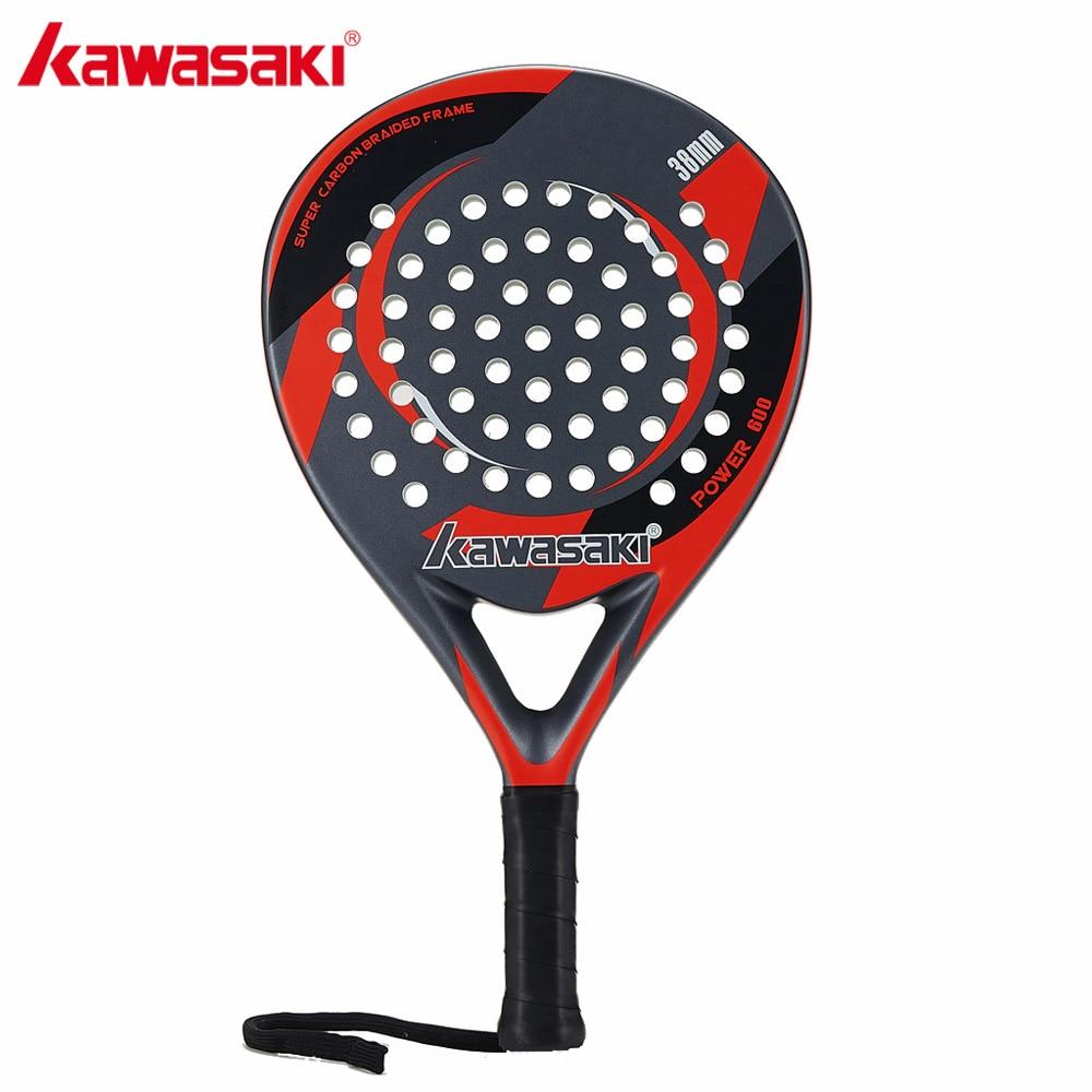 מותג קוואסאקי Padel טניס מחבט מחבט טניס פנים ההנעה סיבי פחמן רך EVA עם Padle תיק כיסוי