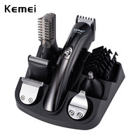 Kemei 600 in 1 Rechargeable Hair Trimmer Titanium Hair Clipper Electric Shaver Beard Trimmer Men Styling Tools Shaving Machine