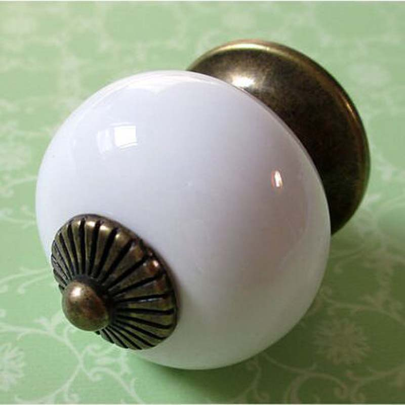 White Dresser Knob Drawer Knobs Kitchen Cabinet Knob Pulls Handles Distress  Antique Bronze Door Handle Pull Ceramic Knobs 6pcs bronze chinese door handle wardrobe handle kitchen knobs cabinet hardware vintage handles decorative knob asas para cajones