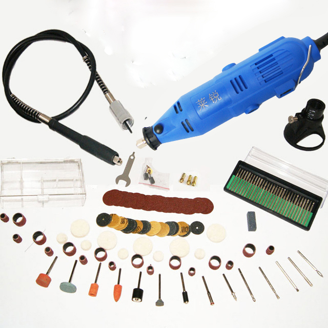 220V 130W Electric dremel style Rotary Tool 5 Speed Mini Drill with Flexible Shaft 140pcs Accessories Power Tools and glasses tungfull 130w dremel style electric rotary tool variable speed mini drill with flexible shaft and 124pc accessories power tools