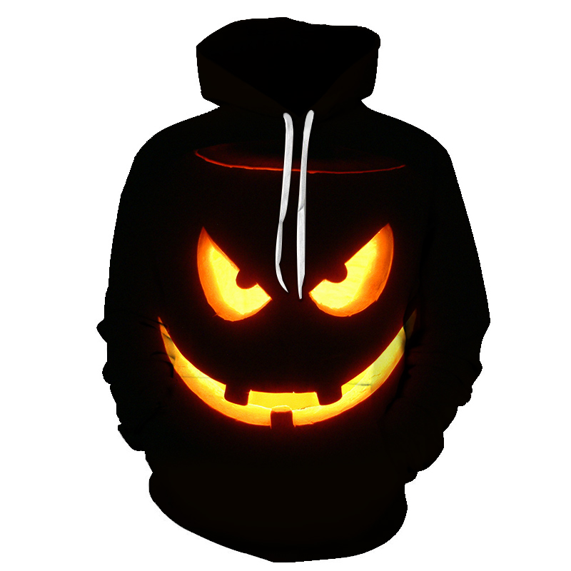 2018 New Fashion 3D Print Halloween Men Women Hooded Sweatshirt Pullovers Autumn Winter High Quality Tracksuit Hip Hop Male