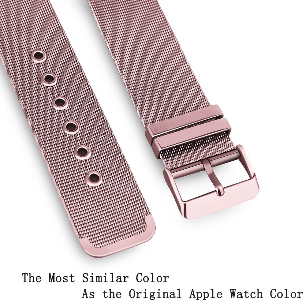 Купить с кэшбэком FOHUAS milanese loop for apple watch Series 5 3 2 1 replacement bracelet band iwatch stainless steel strap buckle with connector