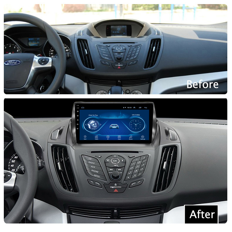 Super Slim Touch Screen Android 8.1 radio GPS Navigation for Ford Kuga Escape 12-16 headunit tablets Stereo Multimedia Bluetooth