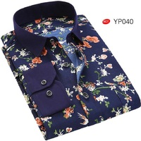 ECTIC 2018 PLUS SIZE Spring Autumn Features Men S Prints Long Sleeved Shirts