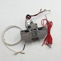 Funssor UM2 + 3D impresora V6 jhead extrusora de Ultimaker2 + metal cabeza de impresión extremo caliente kit de PT100 tipo de