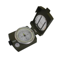 4508 Army green color American Multifunctional hike camp climbing Luminous handheld compass with ruler level outdoor car compass