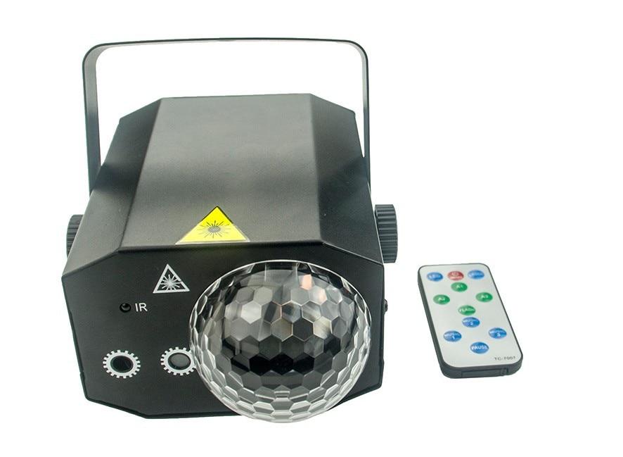 Télécommande 2in1 R & G Laser et boule de cristal magique Led lampe de scène KTV Disco Laser lumière fête lumières Laser projecteur KTV