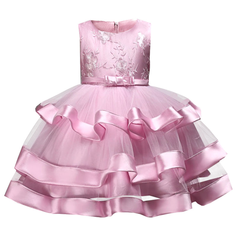 Children Clothing Multi-layer Cake Dress Wedding Clothes Girl Dress First Communion Dresses Girls Ball Gown Baby Tutu Costume