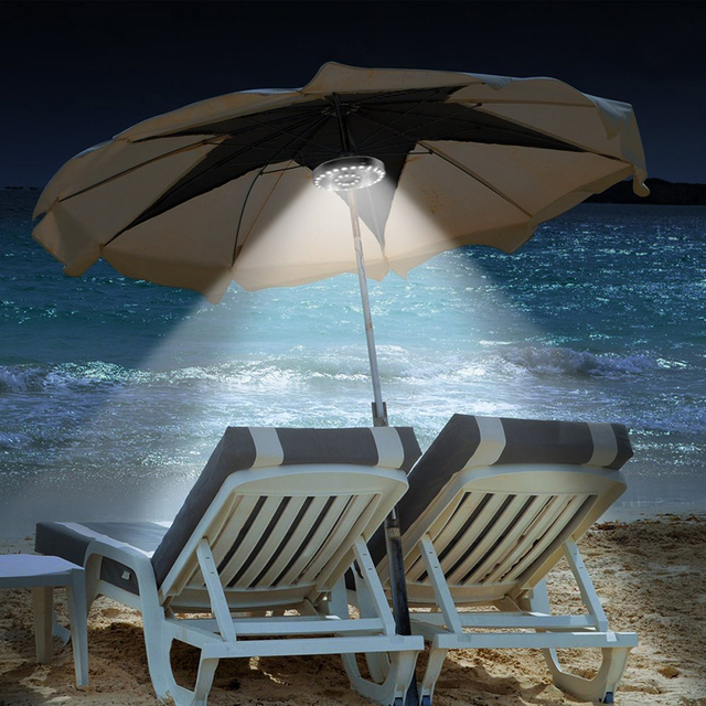 New Style Aluminum+ABS 36LED Solar Powered Lights Patio Umbrella Light  Cordless Or Patio Umbrella