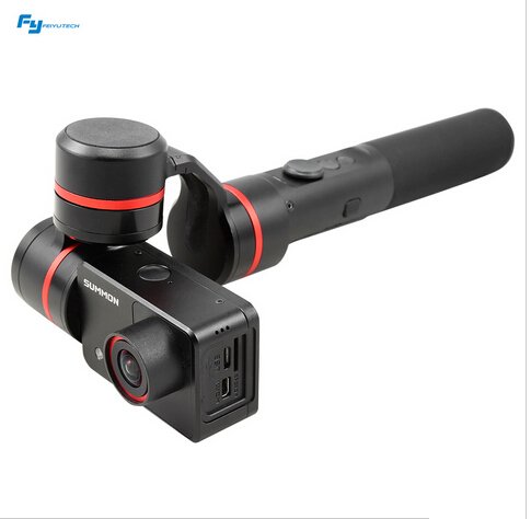 Feiyu Summon+ 3-Axis Stabilized Handheld Camera with 4K 1080P Camera Handheld Steady Brushless Gimbal Video Film stunning medium women s synthetic curly side parting mixed color hair wig