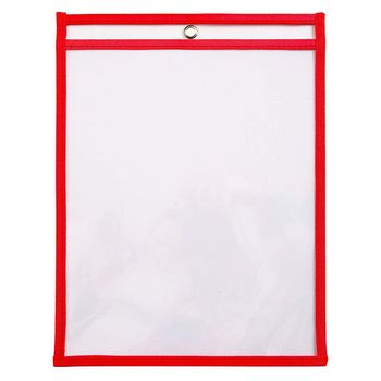30 Multicolored Dry Erase Pockets,Oversize 10 X 13 Pockets,Perfect For Classroom Organization,Reusable Dry Erase Pockets,Teach фото