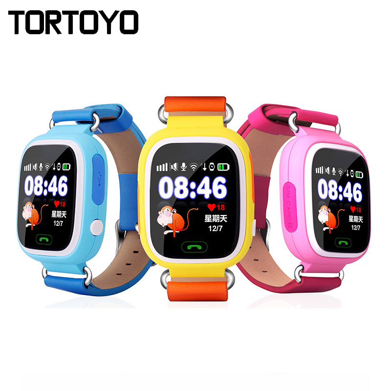 Q90 Smart Touch Screen Kid GPS Tracking Watch SOS Call