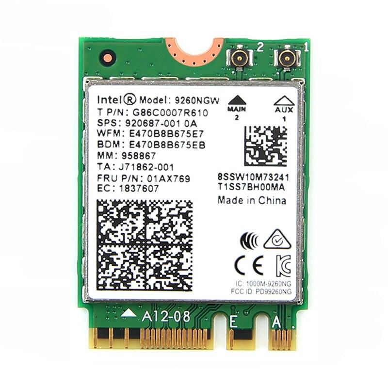 En gros 50 pcs D'origine Nouvelle Daul Bande 1730 Mbps NGFF Sans Fil Wifi Carte 9260NGW Pour Intel 9260 AC Bluetooth 5.0 5 Ghz 802.11ac