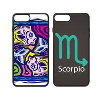 Libra Pisces Sagittarius Scorpio Taurus Virgo Symbol Zodiac Sign Phone Case For IPhone X 7 8
