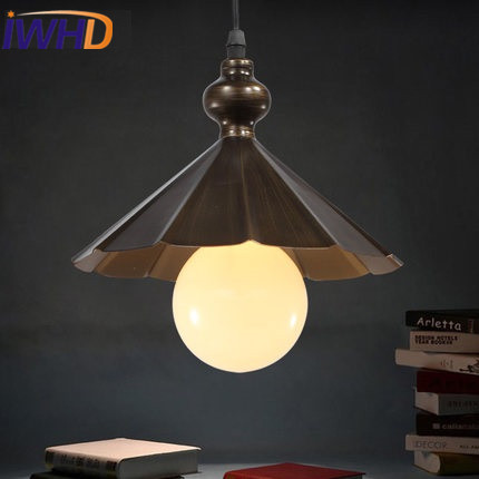 IWHD Iron umbrella Vintage Lamp Loft Industria Pendant Light LED American Style Retro Glass Ball Hanging Lamp Home Lighting edison loft style vintage light industrial retro pendant lamp light e27 iron restaurant bar counter hanging chandeliers lamp