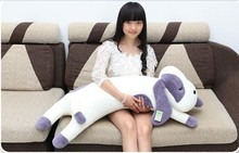 Plush dog pillow toy lovely lying dog cute stuff doll birthday gift about 105cm purple