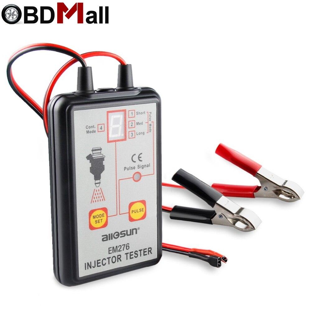 EM276 Pump System Fuel Injector Tester Automotive Fuel Pump System Analyzer 4 Pulse Modes All sun EM 276 Injector Pressure Gauge все цены