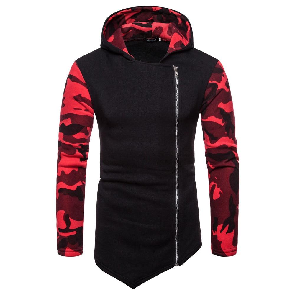 Men's Clothing Tolvxhp Brand 2019 Hoodie Oblique Zipper Solid Color Hoodies Men Fashion Tracksuit Male Sweatshirt Hoody Mens Purpose Tour 3xl