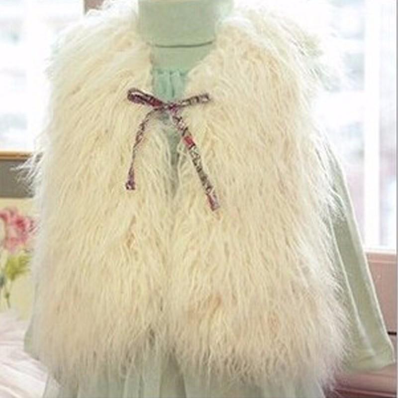 e65202674 2016 Navidad niños de piel falsa Chaleco para niñas ropa de invierno ...