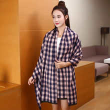 Hot Sale Plaid Scarf Women Casual Shawls And Scarves Wrap Tartan Echarpe Hiver Femme Cashmere Blanket Scarf YJWD279