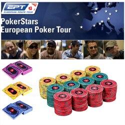EPT fichas de póker de cerámica Pokerstars European Poker Tour fichas de póker profesionales 39*3,4mm 10g