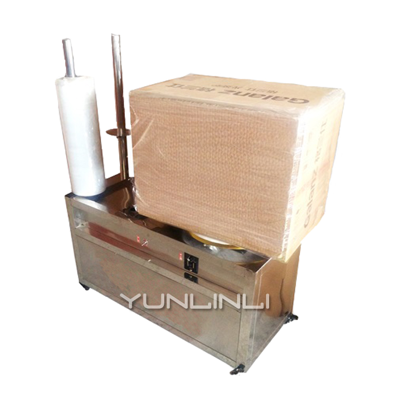 Emballage semi-automatique de plateau élevé Machine de Film d'enroulement de Pe équipement de Machine de Film extensible petit XF1602 électrique