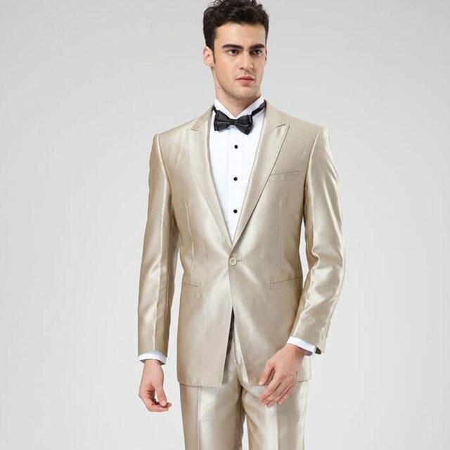 Maßgeschneiderte Hochzeit anzug kleid champagne männer anzug neue ...