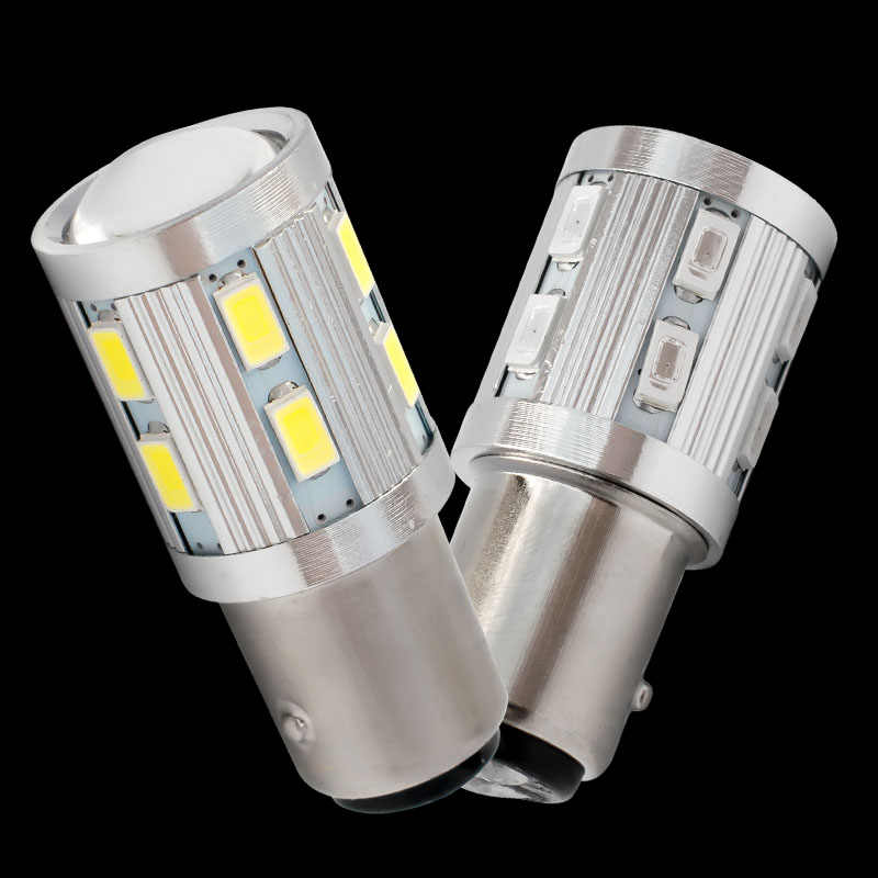 Super bright Car led 1157 BAY15D P21/5W LED S25 5630 5730 Motorcycle Rear Brake Light Bulbs Taillights DRL White Yellow Red 12V
