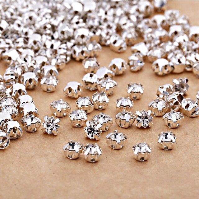 Best sellers Clear crystal Rhinestone Sew on Stone diamond 4mm 5mm 6mm 7mm eda27a2cb514