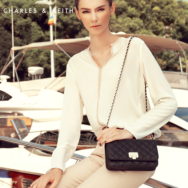 5595a2f26 [8.8%] Charles Keith CK2 70700005 ladies wind Lingge chain shoulder bag on  Aliexpress.com   Alibaba Group