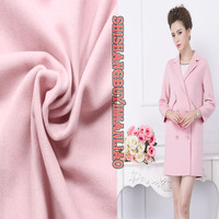 Short Thin Pink Cashmere Wool Cashmere Wool Fabric Autumn And Winter Wool Coat Coat Clothing Fabrics
