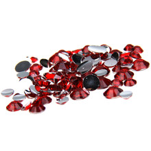 1000pcs 2-5mm And Mixed Sizes Red Resin Rhinestones For Nails Beads Non Hotfix Glitter Nail Art DIY Design Decorations Stones(China)