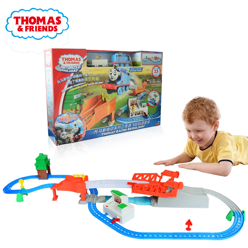 Thomas and Friends Racing Bridge JumP Trackmast Alloy Diecast Children's Educational Baby Kids Toys Model Car For Children Boys
