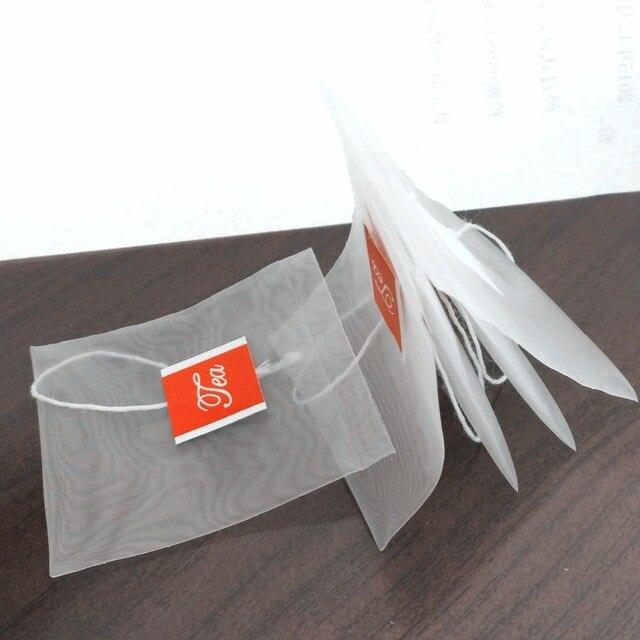 100pcs Lot 55x70mm Heat Sealed Reusable Tea Bags Nylon Mesh Pyramid Empty